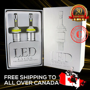 2017 LED Headlight Bulb Kit Bright White Fanless Plug&Play