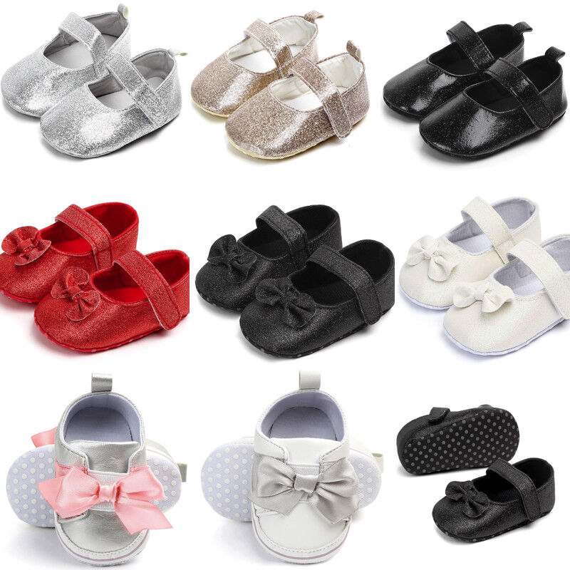 Cute Baby Girl Newborn Infant Baby Bling Casual First Walker