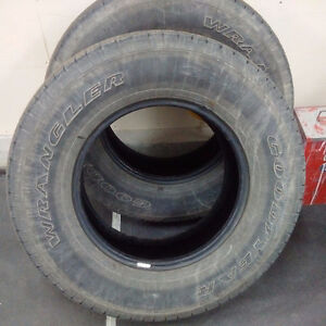"""2 used truck tires 17"""""""