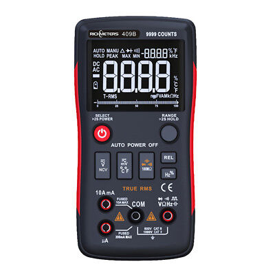 Rm409b True-rms Digital Multimeter 9999 Counts With Analog Bar Graph Ncv Acdc
