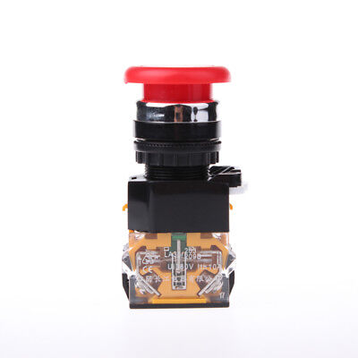 1pcs Red Mushroom Push Button Emergency Stop Switch Twist Release 22mm 1no1nc