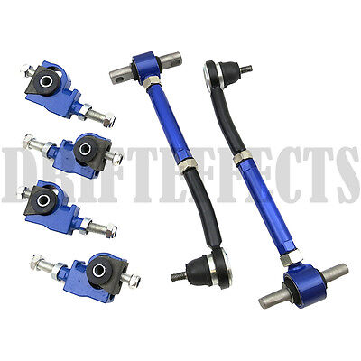 BLUE 90-97 ACCORD 97-99 CL 96-98 TL FRONT BALL+REAR ADJUSTABLE CAMBER ARM KIT