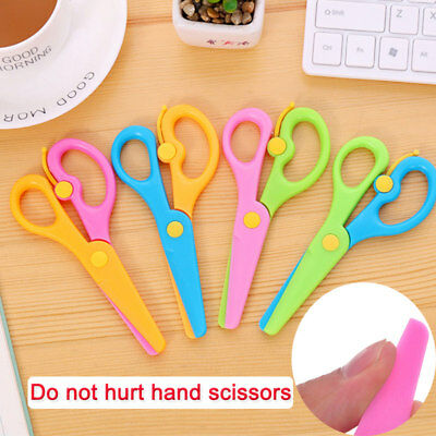 Safety Scissors Plastic Paper Cutting Scissors Kids Handmade Toys Drawing Gift (Kid Scissors Safety)
