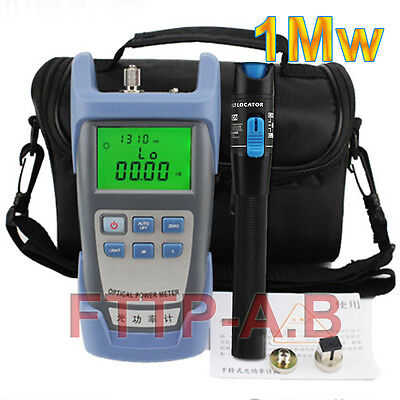 Fiber Optical Power Meter And 1mw 3-5km Visual Fault Locator Cable Tester Bag
