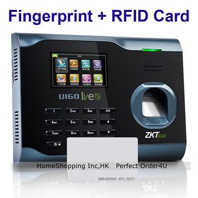 Zkteco Biometric Fingerprint Id Card Attendance Time Clockwifitcpipusb