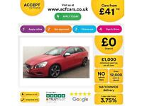 VOLVO V60 2.0 T2 D4 R DESIGN 1.6 D2 SE LUX FROM £41 PER WEEK!