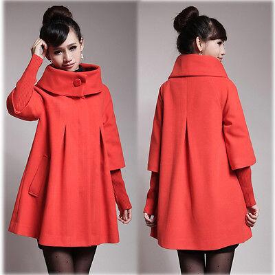 Maternity Coat Jacket Peacoat Pregnancy Trendy Elegant Warm XS/S/M/L/XL/2XL