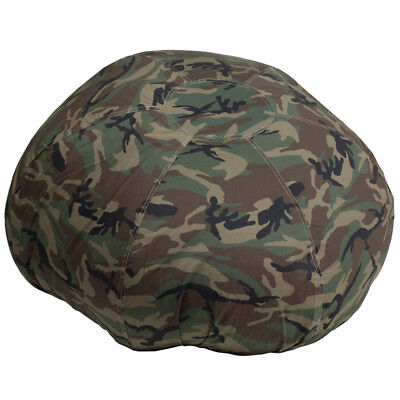Large Comfy Bean Bag Chair in Camouflage Cotton Fabric - Oversized Bean Bag Cotton Comfy Bean Bag