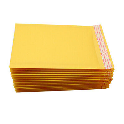 50 Pack - 7.5x10 Dvd Kraft Bubble Mailers Padded Envelope Shipping Bags Seal