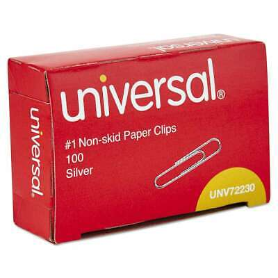 Universal Nonskid Paper Clips Wire No. 1 Silver 1000pack 087547722305