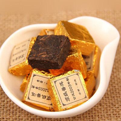 2003 20pc Yunnan Ripe Golden Square puer Pu'er Puerh Mini Cake Tea Gold Pur Tee
