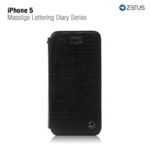 Zenus Apple iPhone 5/5s/SE Masstige Lettering Diary Series Case BLACK H783