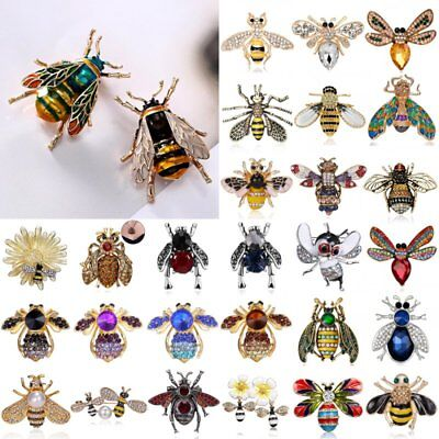 Fashion Crystal Pearl Bee Bird Butterfly Animal Brooch Pin Women Costume Jewelry - Boo Costumes