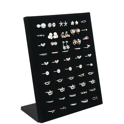 Velvet Carrying Case Jewelry Ring Display Holder Board Storage Box Organizer