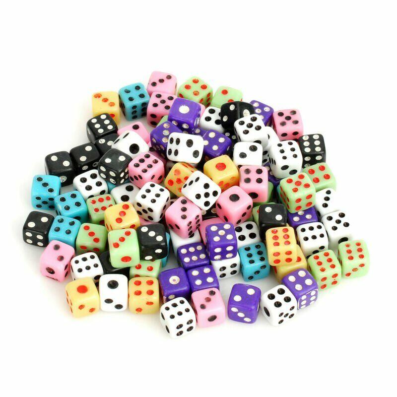 100PCS Colorful Super Mini Dice   Multicolord Tiny Inch Miniature Game
