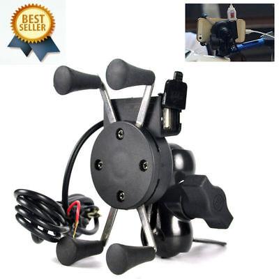 Grip-Handy GPS-Halter Universal-Motorrad-Fahrrad-Lenkerhalterung USB Ladegerät