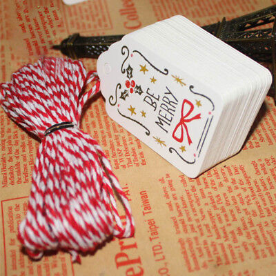 50Pcs Paper Tags With String DIY Craft Party Supplies Favor Christmas Decoration - Diy Paper Christmas Decorations