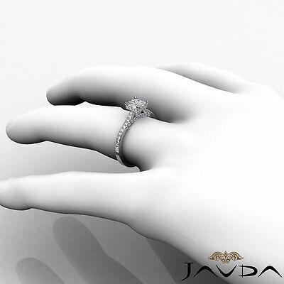Bridge Accent Circa Halo Princess Diamond Engagement Pave Ring GIA E VS2 1.15Ct 3