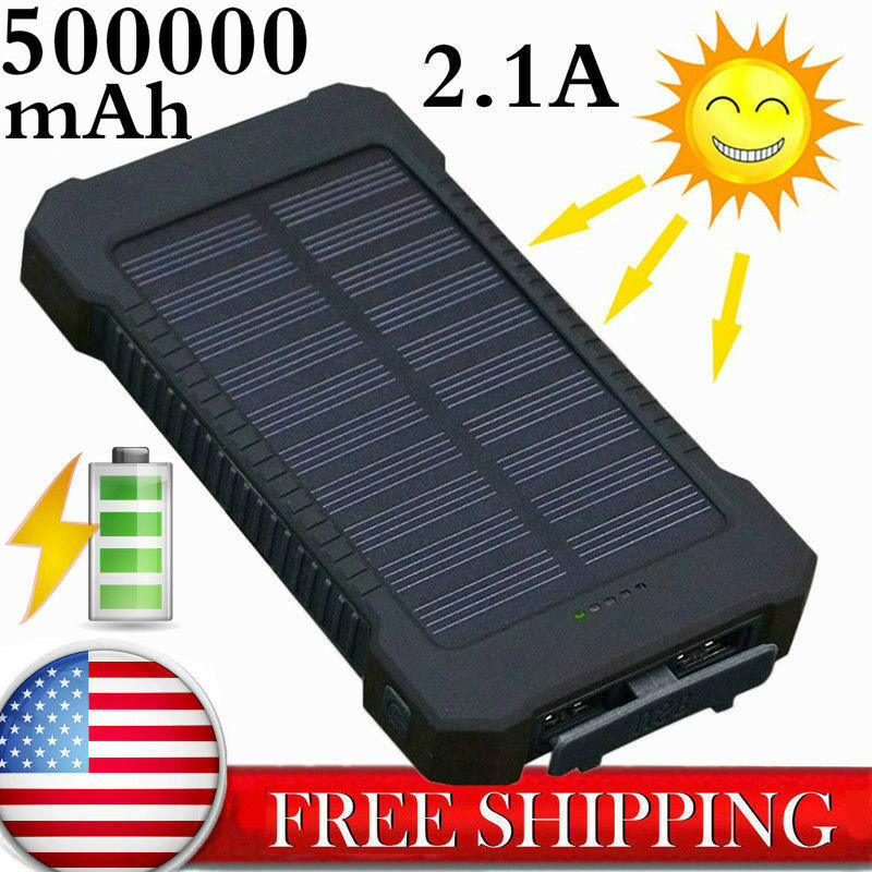Fast Charging Waterproof Solar Charger Power Bank 500000mAh