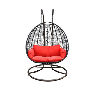 Double Hanging Chair Indoor and Outdoor Patio Use