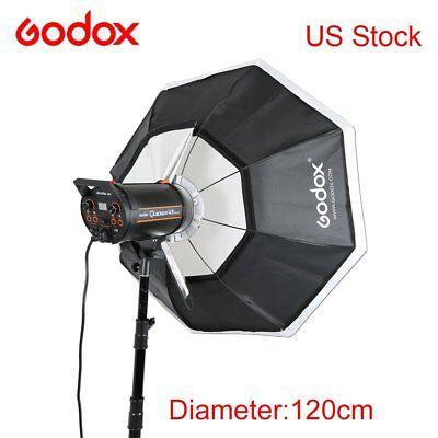 "120cm 47"" Godox Octagon Softbox Bowens Mount Studio Strobe Camera Flash Light"