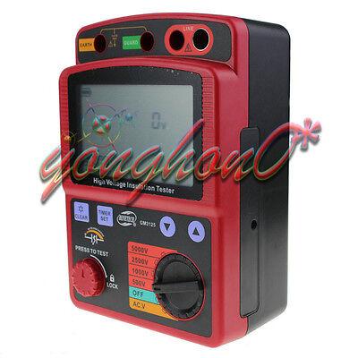 Gm3125 High Voltage 5kv Insulation Resistance Tester Meter Megger1t Ohm Dar Pi