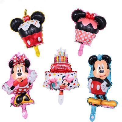 10pcslot Mickey Minnie Mouse Foil Balloons Party Decor Cake Globos Birthday Kid - Minnie Birthday Cake