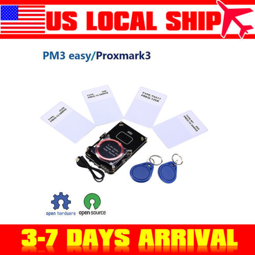 Proxmark3 Easy V3.0 IC ID DEV Kits Built-in RFID Prox Reader Decryptor Antenna