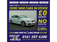 Audi S3 2.0 TFSI ( 300ps ) quattro Sportback 2014MY CAR FINANCE FOR BAD CREDIT
