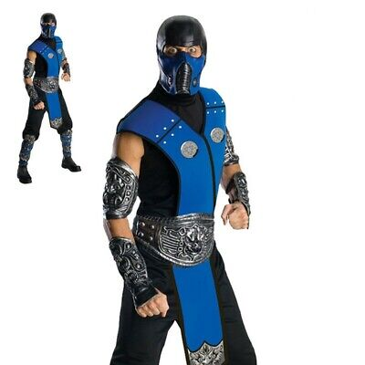 Hombre Adulto Combate Mortal Ninja con Licencia Disfraz Subzero Cost