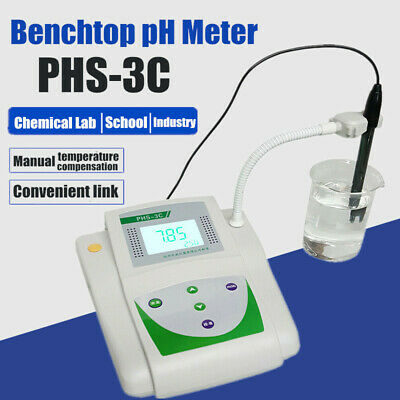 Lcd Digital Ph Meter Tester Benchtop Mv Tester Acidity Meter For Chemical Lab Us