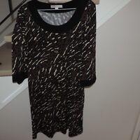 Cleo dress size 4 black brown khaki