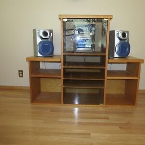 Handmade Oak TV and stereo stand
