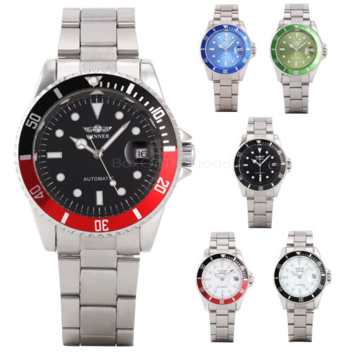 $7.99 - Luxury Men Automatic Mechanical Stainless Steel Military Army Sport Wrist Watch