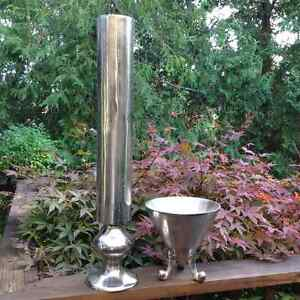 Cast Aluminum Vases – perfect for wedding tables or home.