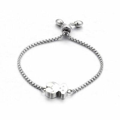 Luxury Teddy Bear Bracelet Stainless Steel Jewelry Bracelet Gift For Woman ()