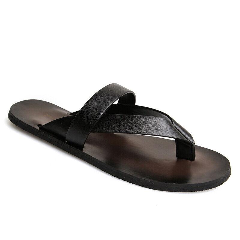 Men's Summer Fashion Flip Flops Beach Pool Sandals Casual PU