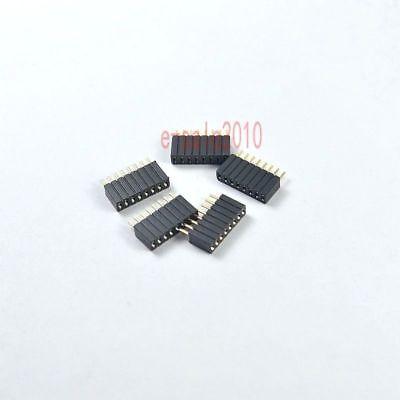 10pcs 1.27mm Pitch 1x8 Pin 8 Pin Single Row Straight Female Pin Header Strip Pcb