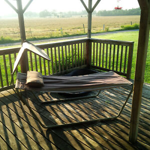 Hammock with metal frame pillow and shade cover Kawartha Lakes Peterborough Area image 2