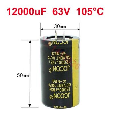 4pcs 12000uf 63v Amplifieraudiopowerfilter Electrolytic Capacitor 30mmx50mm