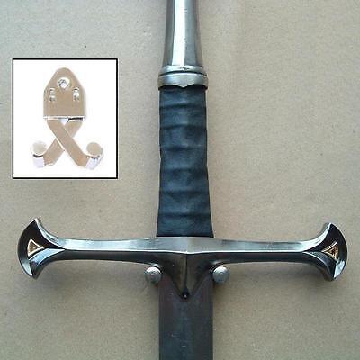 Scissor Action Adjustable Sword / Dagger Wall Hanger Display Hook & Fixings