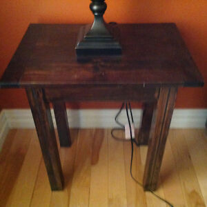 Set of 2 chocolate brown end tables for sale