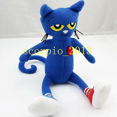 Lovely New Pete the Cat Soft Stuffed Plush Toy Doll 14 inches US Ship](Cat Stuffed Animal)