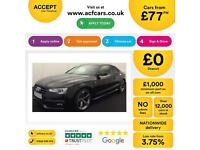 Black AUDI A5 COUPE 1.8 2.0 TDI Diesel BLACK EDITION FROM £77 PER WEEK!
