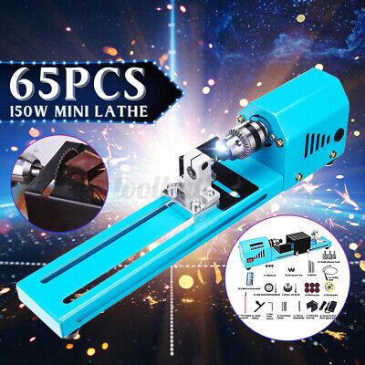 65pcs 150w Mini Wood Lathe Bead Cutting Polishing Diy Drill Woodworking 7000rpm