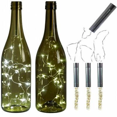 10 15 20 LED String Lights Kork Geformt Nachtlicht für Wein Flasche Sternen Xmas