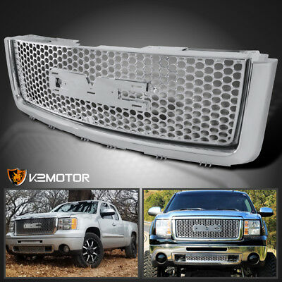 2007-2013 GMC Sierra 1500/ 2500 Light Duty Chrome ABS Front Hood Grille Mesh