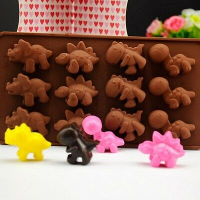 Silicone Dinosaur Animal Cake Decorating Mold Candy Cookie Chocolate Baking Mold - Dinosaur Molds