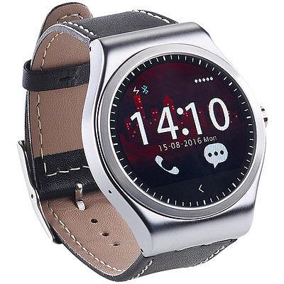 Smartwatch mit Bluetooth-4.0, Metallgehäuse, Herzfrequenz, Nachrichten