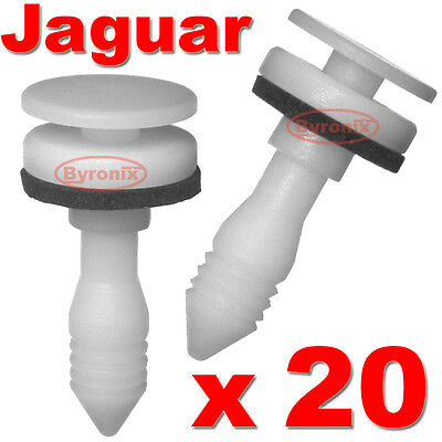 20 JAGUAR S X TYPE DOOR CLIPS CARD PANEL TRIM INTERIOR FASTENER